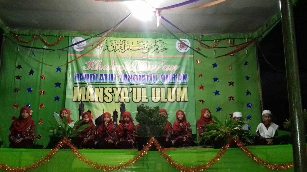 Wisuda RTQ YANBU'A Mansyaul Ulum yang ke 5
