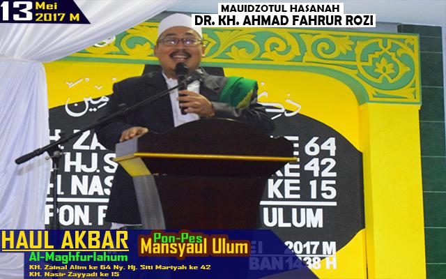 Haul Akbar KH. Zainal Alim ke 64, Ny. Hj. Siti Mariyah ke 42, KH Nasir Zayyadi Ke 15 (13 Mei 2017)